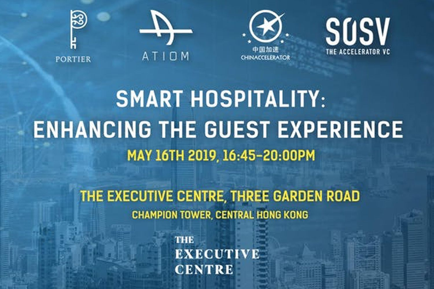 Chinaccelerator, Portier Technologies and ATIOM Hosts a Smart Hospitality Forum in Hong Kong